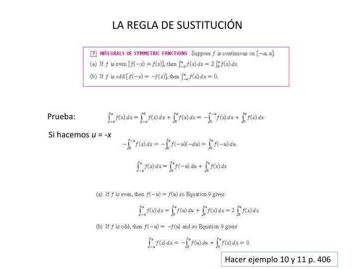 LA REGLA DE SUSTITUCIÓN