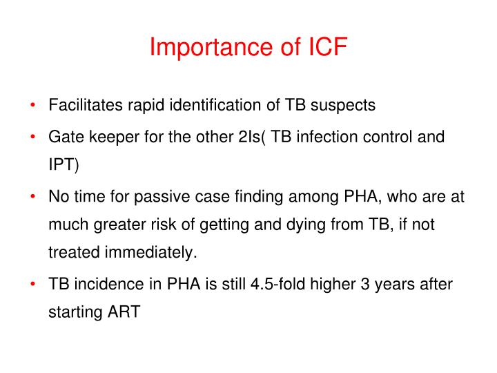 Importance of ICF