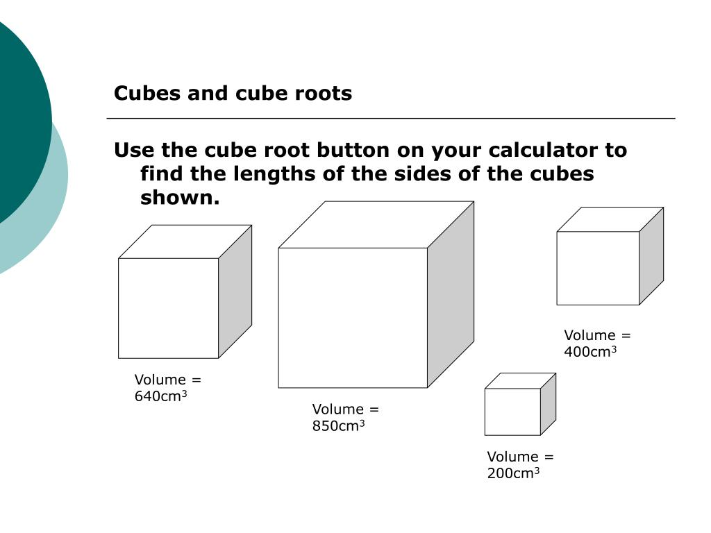 PPT - Cubes and Cube Roots PowerPoint Presentation - ID:3143523