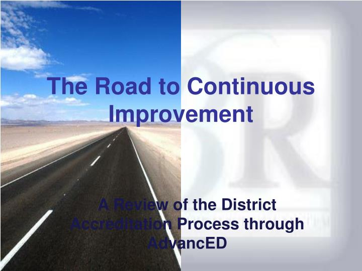 the road to continuous improvement n.