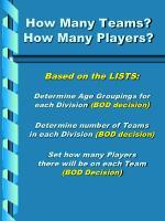 how many teams how many players