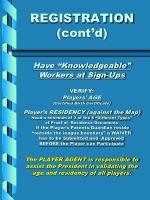 registration cont d
