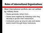 roles of international organizations