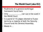 the world court aka icj