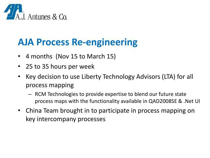 AJA Process Re-engineering