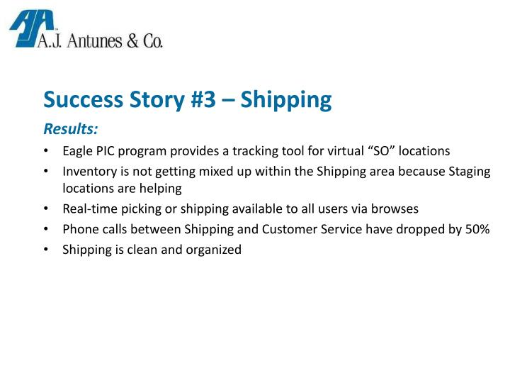 Success Story #3 – Shipping
