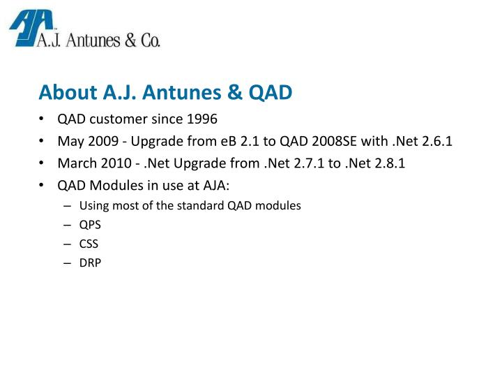 About A.J. Antunes & QAD