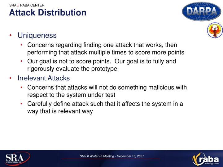 Attack Distribution
