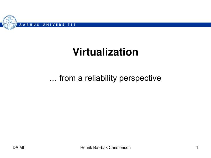 virtualization n.