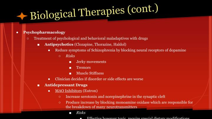 Biological Therapies (cont.)