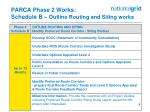 parca phase 2 works schedule b outline routing and siting works
