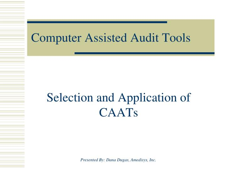computer assisted audit tools n.