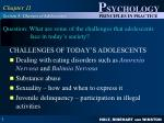 question what are some of the challenges that adolescents face in today s society