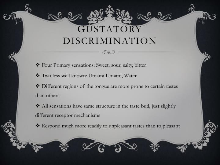 Gustatory discrimination