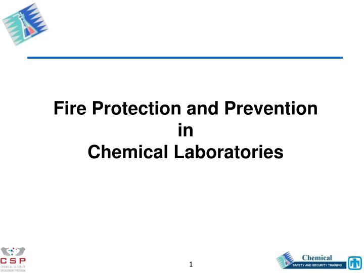 fire protection and prevention in chemical laboratories n.