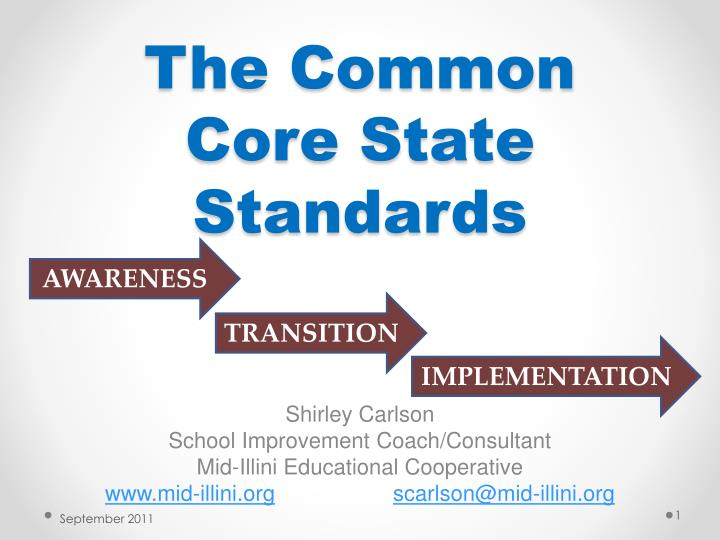 the common core state standards n.