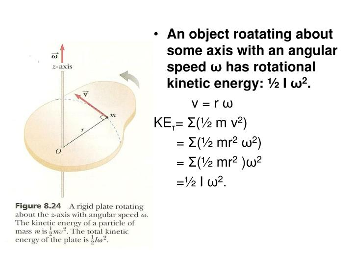 An object roatating about some axis with an angular speed