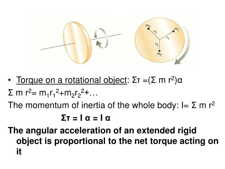 Torque on a rotational object