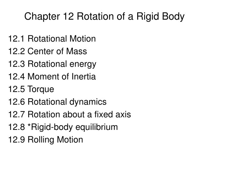 chapter 12 rotation of a rigid body n.