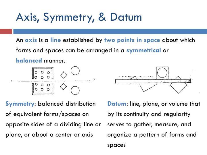 Axis, Symmetry, & Datum