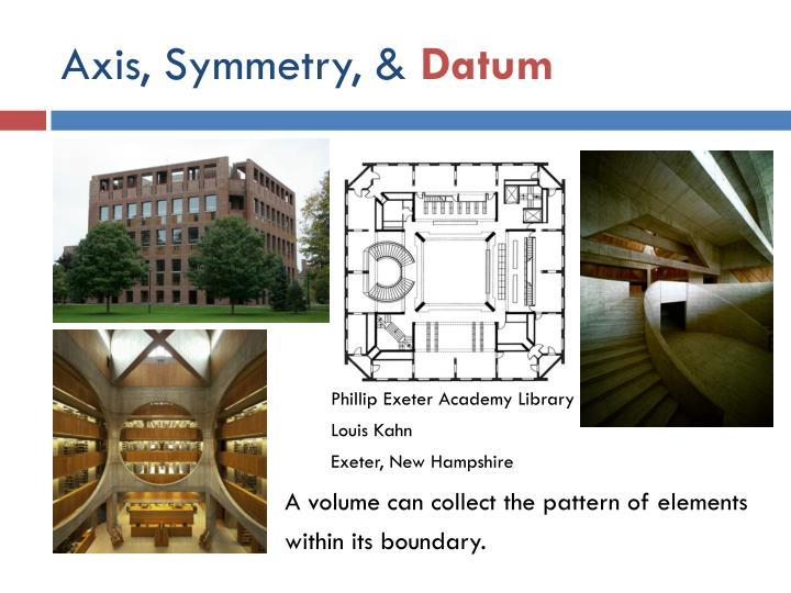 Axis, Symmetry, &