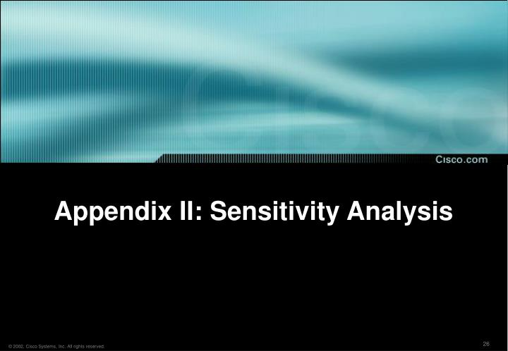 Appendix II: Sensitivity Analysis