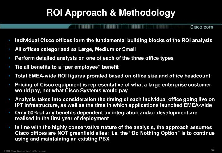 ROI Approach & Methodology