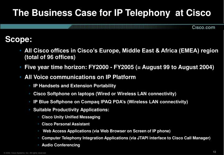 The Business Case for IP Telephony  at Cisco