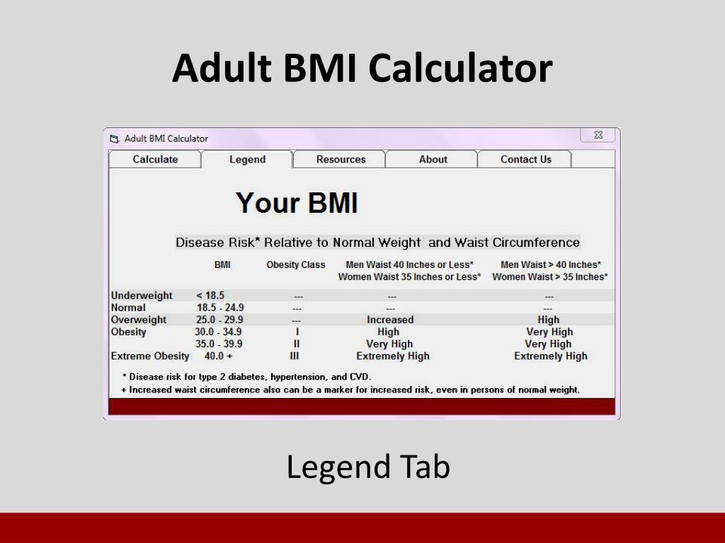 PPT - Body Mass Index (BMI) Calculator PowerPoint