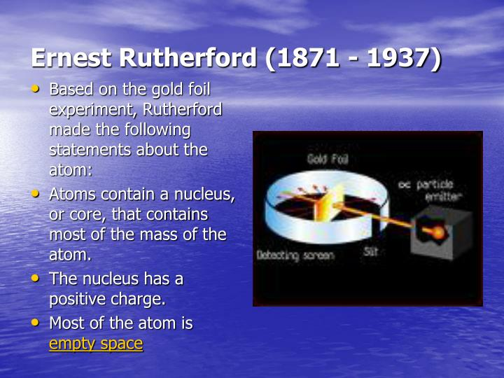 Ernest Rutherford (1871 - 1937)