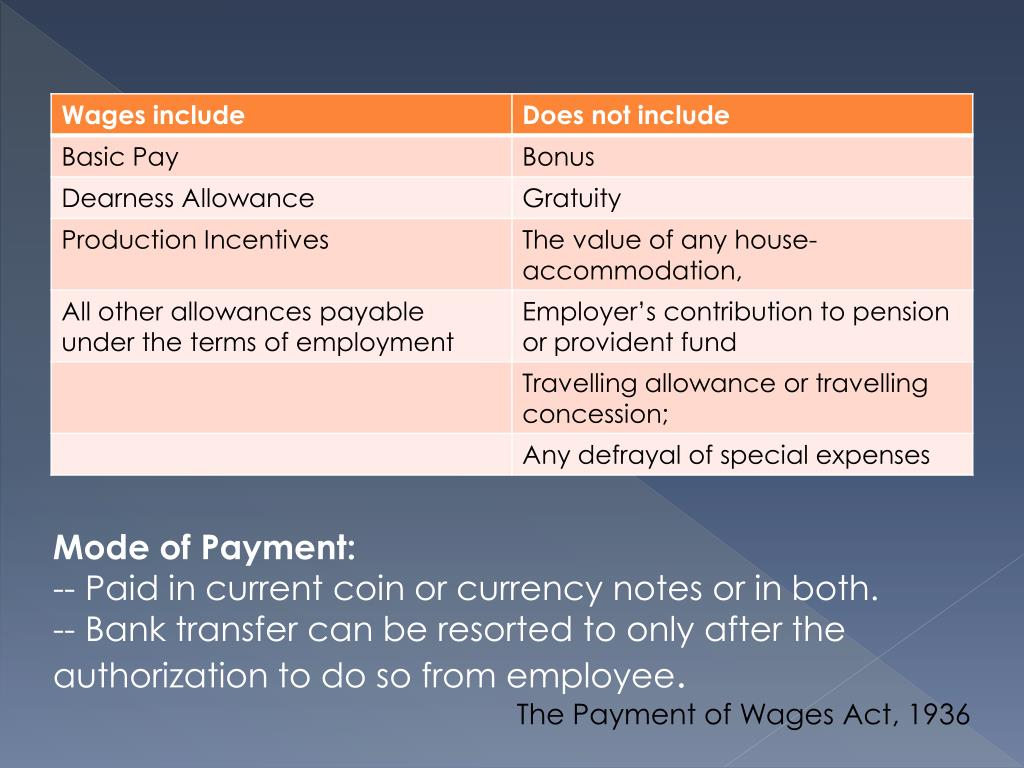 free ppt download the payment of wages act 1936