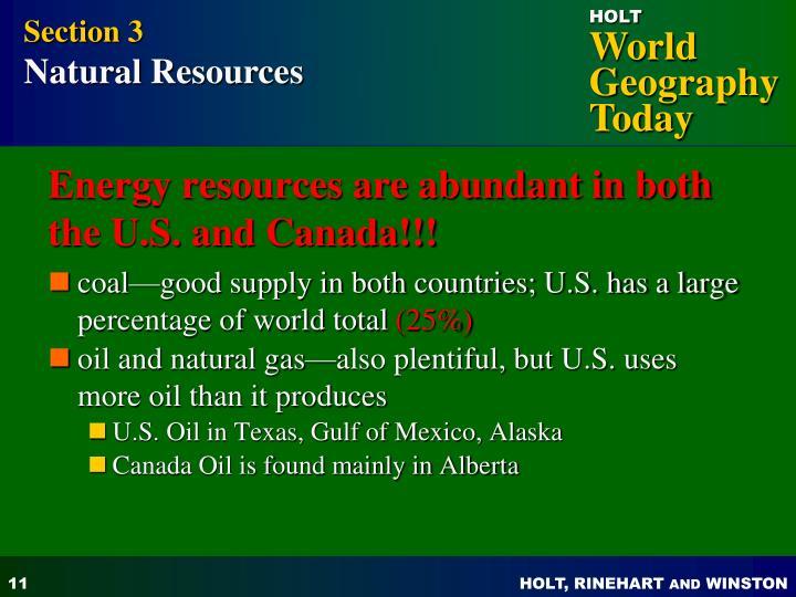 Subarctic Region Natural Resources
