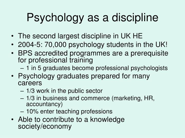 Psychology as a discipline