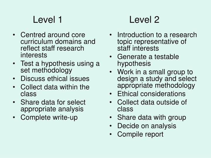Centred around core curriculum domains and reflect staff research interests
