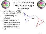 ex 3 preserving length and angle measures