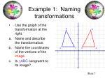 example 1 naming transformations