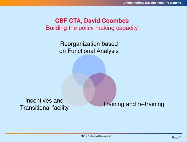 CBF CTA, David Coombes