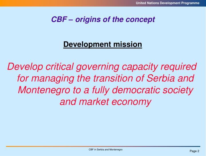 Development mission