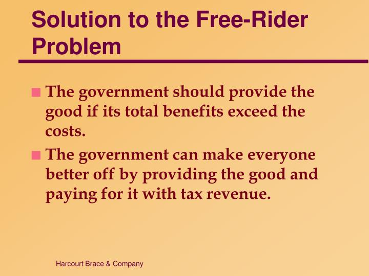 Solution to the Free-Rider Problem