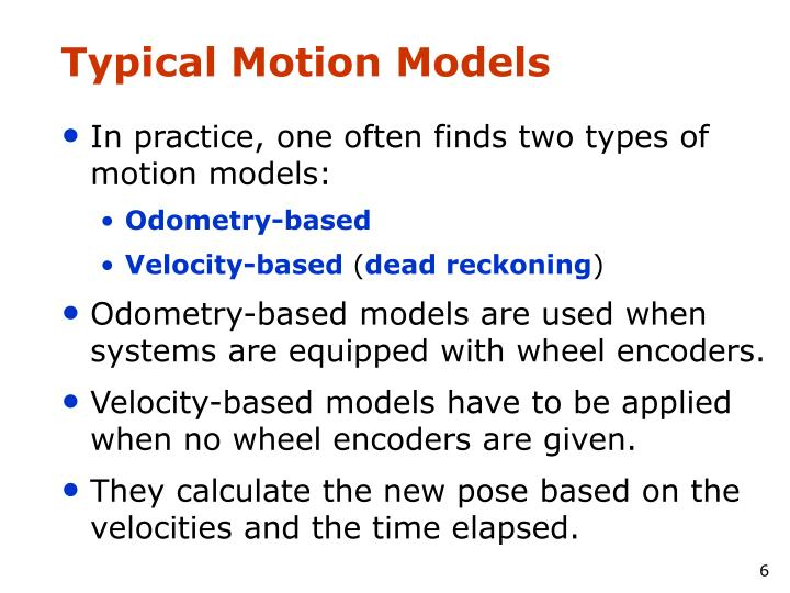 Typical Motion Models
