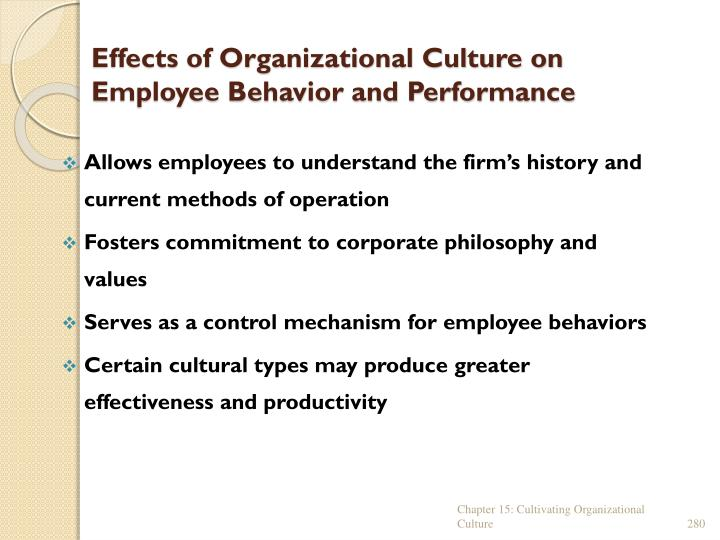 Effects of Organizational Culture on