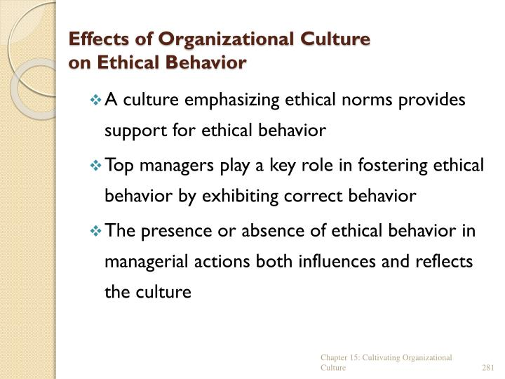 Effects of Organizational Culture