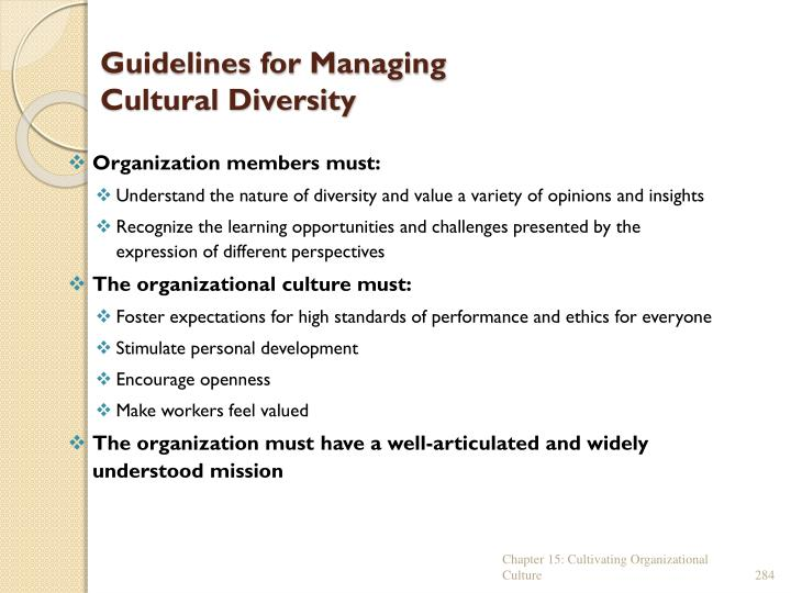 Guidelines for Managing