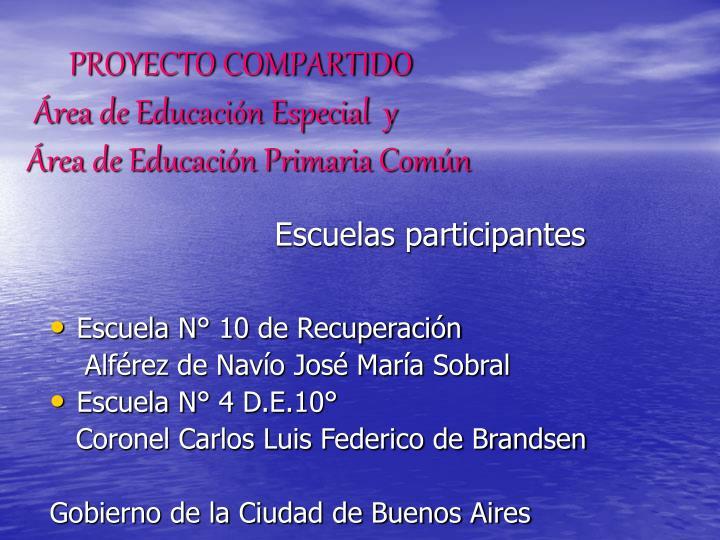 Escuelas participantes