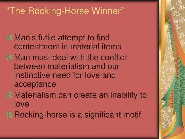 the difference between the lottery and the rocking horse winner
