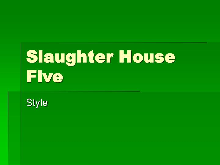 the list of characters and their descriptions in slaughterhouse five