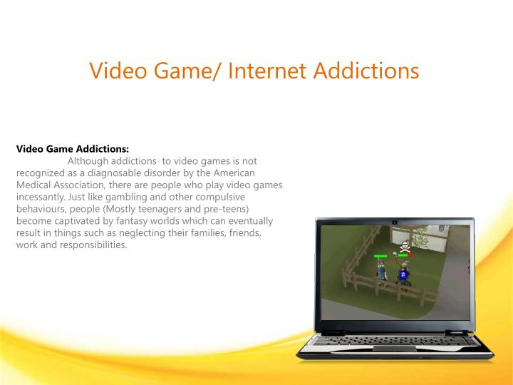 video game internet addictions n.
