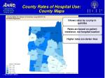 county rates of hospital use county maps