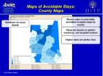 maps of avoidable stays county maps