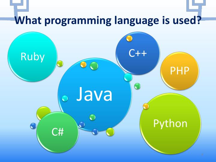 What programming language is used?